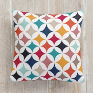 Geometry in Colors 1 Square Pillow