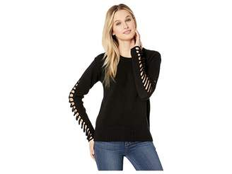 Vince Camuto Drop Shoulder Cut Out Sleeve Sweater