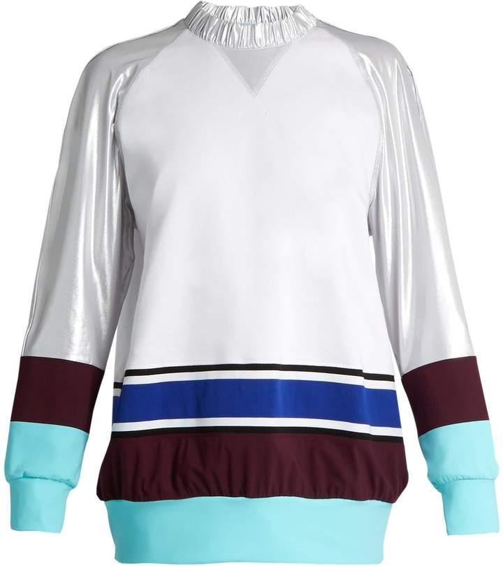 NO KA 'OI NO KA'OI Wela oversized colour-block sweatshirt