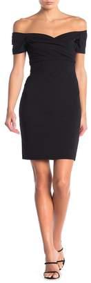 Blvd Off-the-Shoulder Short Sleeve Bodycon Dress