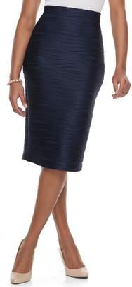Women's Double Click Jacquard Midi Pencil Skirt