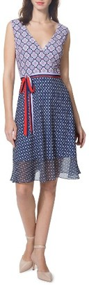 Women's Donna Morgan Print Fit & Flare Dress $98 thestylecure.com