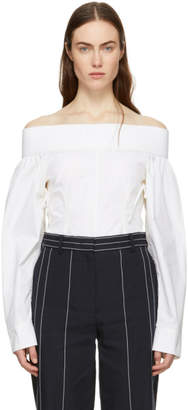 Cédric Charlier Off-White Off-the-Shoulder Blouse