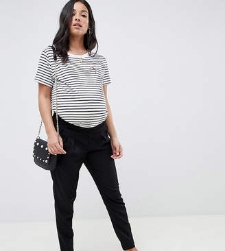 Mama Licious Mama.licious Mamalicious maternity tailored pants in black