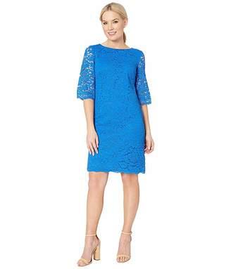 Lauren Ralph Lauren 150E Piazza Floral Jillias Elbow Sleeve Day Dress