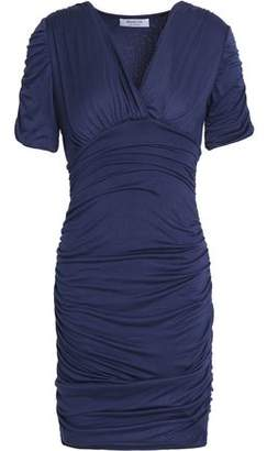 Bailey 44 Wrap-Effect Ruched Stretch-Jersey Mini Dress