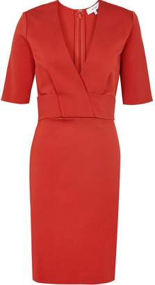 Reiss Rebecca - Wrap Front Slim Fit Dress in Red