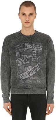 The Kooples Printed Cotton Jersey Sweatshirt