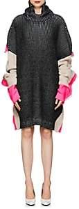Balenciaga Women's Rib-Knit Wool-Blend Sweaterdress - Black