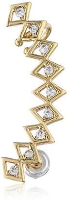 Jules Smith Designs Deco Gold-Plated Rhinestone Ear Cuff