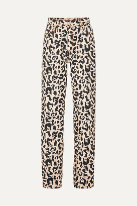 Eytys Benz Leopard-print High-rise Jeans - Cream
