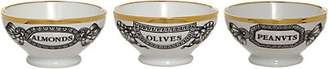 Fornasetti Appetizers Bowls - Wht.&blk & gold