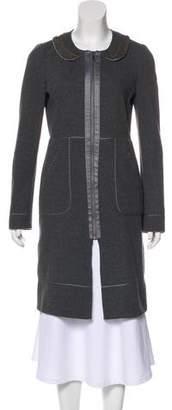 Rebecca Taylor Embellished Knee-Length Coat