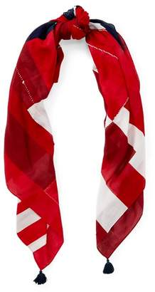 Ralph Lauren Patchwork Flag Square Scarf