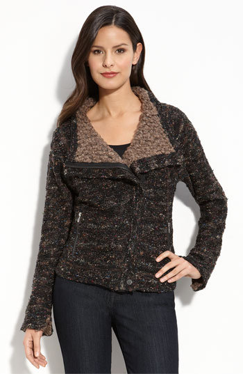 Curio 'Moto' Tweed Sweater Jacket