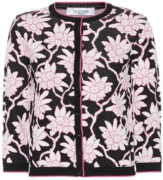 Valentino Rododendro jacquard cardigan