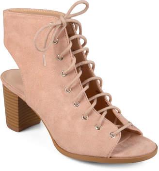Journee Collection Womens Posey Booties Block Heel Lace-up