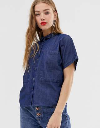 Noisy May short sleeve denim shirt