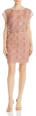 Aidan Mattox Embellished Blouson Dress