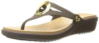 Crocs Women's Sanrah Beveled Circle Wedge Sandal