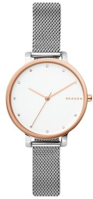 Women's Skagen Hagen Mesh Strap Watch, 34Mm $165 thestylecure.com