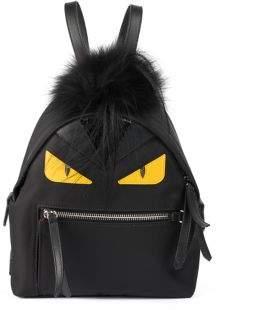 Fendi Monster Nylon, Leather& Mini Fur Backpack