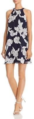 Aqua Floral Print Swing Dress - 100% Exclusive