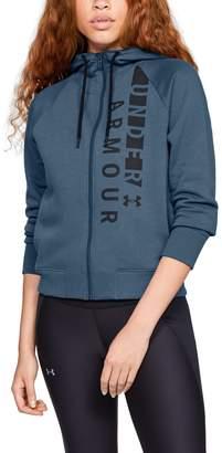Under Armour Women's UA Rival Fleece Full Zip Hoodie