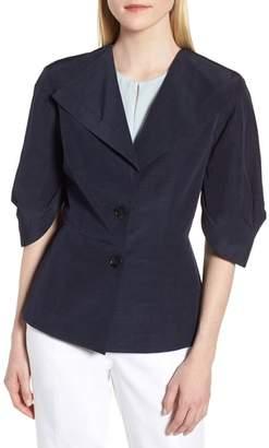 Lewit Pleat Sleeve Blazer