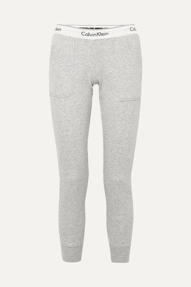 Calvin Klein Underwear Cotton-blend Jersey Track Pants - Gray