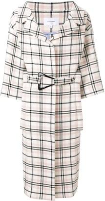 Carven belted check coat