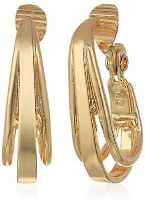Anne Klein Women's Hoop Clip Earrings