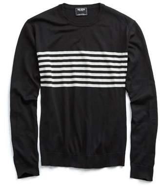 Todd Snyder Engineered Surf Stripe Silk-Cotton Sweater