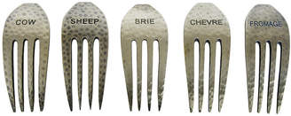 Epicurean EpicureanistTM Set of 5 Rustic Cheese Fork Markers