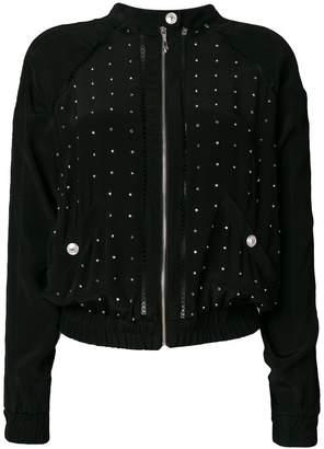 Just Cavalli studded zip jacket