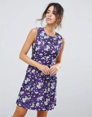 Warehouse Aster Floral Jacquard Dress