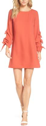 FOREST LILY Bow Sleeve Sheath Dress