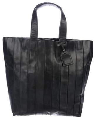 Reed Krakoff Pleated Leather Tote Black Pleated Leather Tote
