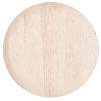 BLOOMINGVILLE Rubber Wood Round Plate - 12""