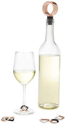 Umbra Geo Wine Charms & Bottle Stopper