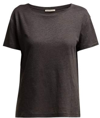 Acne Studios Eldora Linen T Shirt - Womens - Dark Grey