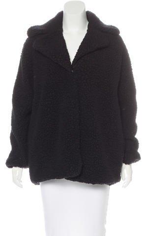 Balenciaga Balenciaga Textured Wool-Blend Coat