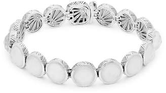 Stephen Dweck Women's Small Carved White Mother-of-Pearl, Crystal Quartz and Sterling Silver Bracelet