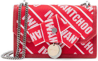 Jimmy Choo Finley red logo cross body bag