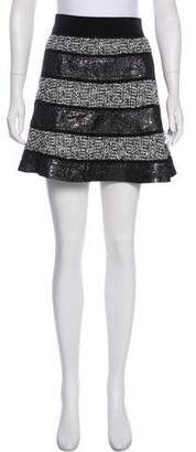 Tory Burch Tweed and Jacquard Mini Skirt