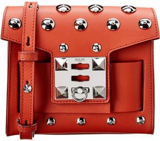 Salar Milano Gaia Moon Leather Shoulder Bag
