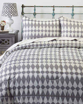 Idea Nuova 5-Piece Grey Geo Print Twin Bed-in-a-Bag Set