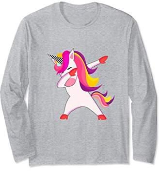 Dabbing Unicorn Long Sleeve Shirt
