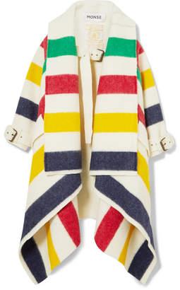 Monse Hudson's Bay Striped Wool-felt Blanket Coat - Ivory