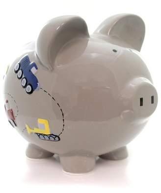 "Child to Cherish 7.5"" Gray Construcion Pig Truck Crane Save Money"
